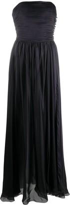 Alexandre Vauthier Side-Crystal Strapless Dress