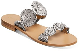 Jack Rogers Women's Lauren Metallic Snake-Embossed Sandals