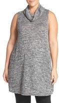 Sejour Plus Size Women's Cowl Neck Sleeveless Knit Tunic