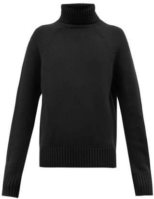 Holiday Boileau Mick Roll Neck Virgin Wool Sweater - Womens - Navy