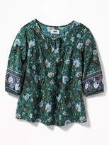 Old Navy Floral Boho Swing Top for Girls
