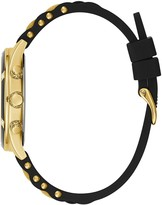 GUESS Breeze Gold Black Silicone Strap Womens Watch