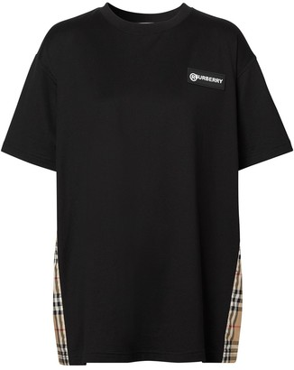Burberry Vintage Check panel T-shirt