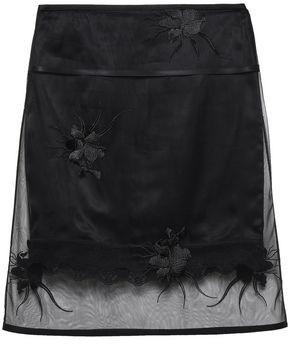 Helmut Lang Embroidered Tulle Skirt