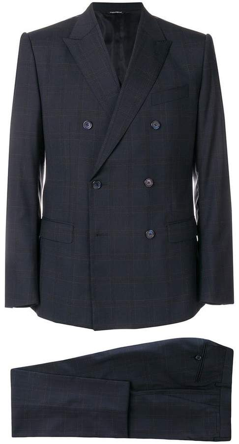Dolce & Gabbana checked suit