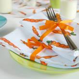 Clara and Macy Carrot Fabric Napkin Set