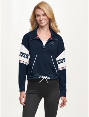 Tommy Hilfiger Dallas Cowboys Quarter Zip Mock Neck Sweatshirt