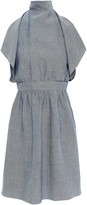 M Missoni Cutout Layered Chambray Mini Dress