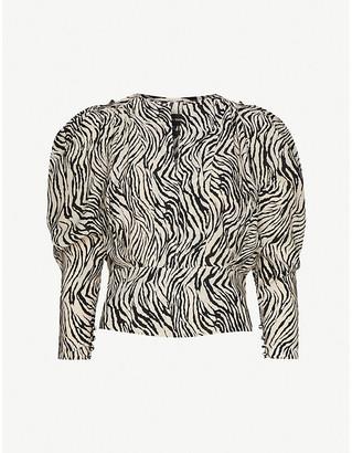 Isabel Marant Zarga zebra-print stretch-silk top