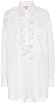 Plan C Ruffled cotton blouse