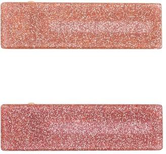 Valet Studio Clementine glittered hair clips
