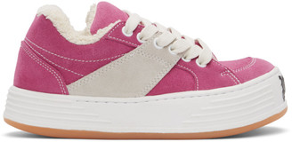 Palm Angels Pink Suede Snow Low Top Sneakers
