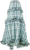 Rosie Assoulin Ruffle Gingham Tiered Skirt