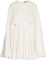 Alexander McQueen Cape-back Silk-cady Mini Dress - Ivory