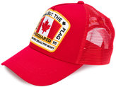 DSQUARED2 Canadian flag baseball cap - men - Cotton/Polyester - One Size