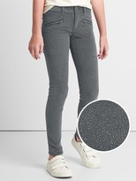 High stretch sparkle super skinny cord jeans