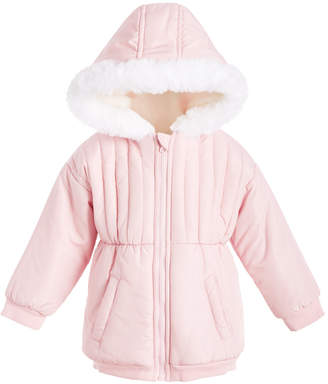 First Impressions Baby Girls Hooded Jacket With Faux-Fur Trim