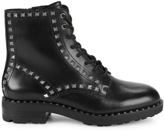Ash Wolf Studded Leather Combat Boots