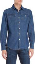 G Star Raw Denim Flap Pocket Shirt