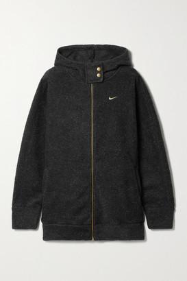 Nike Melange Fleece Hoodie - Black
