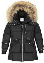 SAM. Girls' Fur-Trimmed Puffer Jacket - Big Kid