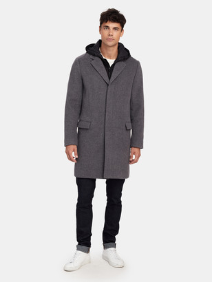 Vince Hooded Top Coat