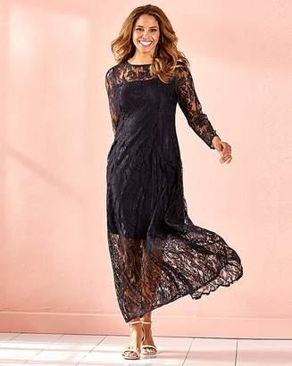 Joanna Hope Black Lace Maxi Dress