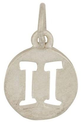 Mocha Gemini Zodiac Plate Sterling Silver Charm