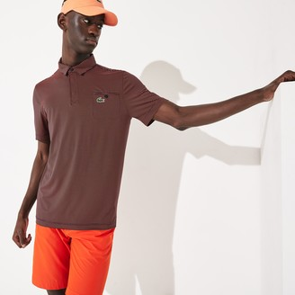 Lacoste Men's SPORT Breathable Striped Golf Polo Shirt