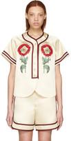 Gucci Beige 'Loved' Embroidered Duchesse Shirt