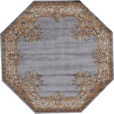 Momeni Open Field Hand-Carved Wool Octagonal Rug