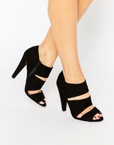 Paper Dolls Slit Detail Heeled Sandal