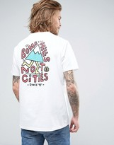 Element T-shirt Bomb Hills Not Cities Print In White