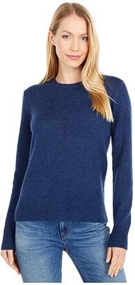 Pendleton Shetland Crew Pullover (Prussian Blue Heather) Women's Sweater