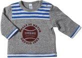 Petit Bateau Reversible Shirt (Baby) - Gray/Blue-12 Months