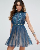 Free People Forever Lace Evening Dress