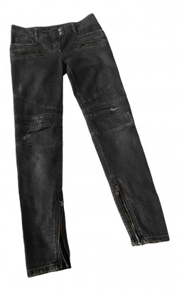 Balmain Orange Cotton - elasthane Jeans