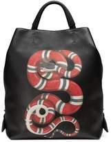 Gucci Kingsnake print leather backpack