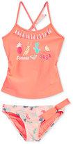 Roxy 2-Pc. Summer Cuba Sandy Break Tankini Set with Tassels, Little Girls (2-6X)