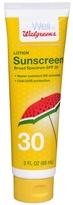 Walgreens Sunscreen Lotion, SPF 30