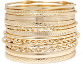Liz Claiborne Gold-Tone Textured Bangle Set