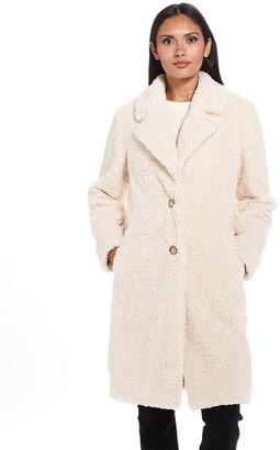 Gallery Faux Fur Walker Coat