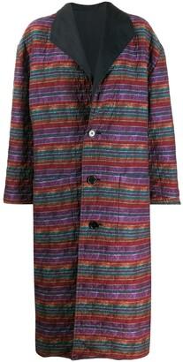 Missoni Pre Owned 1980s Reversible Oversized Coat
