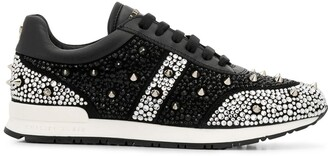 Philipp Plein Low-Top Embellished Sneakers