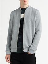 Samsoe & Samsoe Hermits Zip Jersey Top, Grey Melange