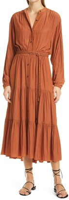 A.L.C. Jenine Long Sleeve Tiered Dress