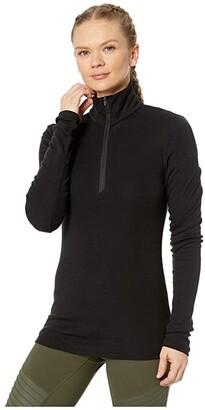 Icebreaker 175 Everyday Merino Baselayer Long Sleeve 1/2 Zip (Black) Women's Clothing