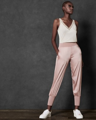 Ted Baker Satin Jogger With Knit Trim
