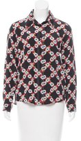 Sandro Floral Printed Silk Button-Up