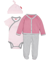 Skip Hop Pink Welcome Home Geometric Snap-Front Footie Set